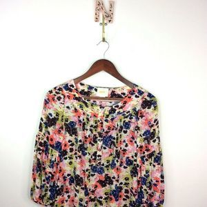 Anthropologie Maeve Panseyfield Peasant Blouse Top